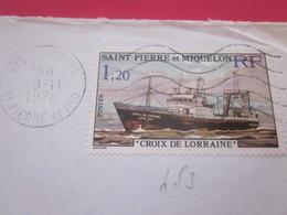Lettre Timbre 453 De Collection 975 SAINT-PIERRE Et MIQUELON- Cachets à Date Manuels -9-11-1971 - St.Pierre Et Miquelon