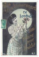 Cpa Châteaurenard - Fantaisie : Ce Bouquet Vous Redira Mon Amitié ( Ajoutis Paillettes ) - Chateaurenard