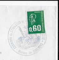 1974 - GREVE Des Postes - OBLITERATION De CHAMBRE De COMMERCE De SOISSONS (AISNE) Sur BEQUET - ENVELOPPE COMMERCIALE - Strike Stamps