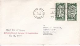 INTERNATIONAL LABOUR ORGANIZATION. FDC CANADA OTTAWA CIRCA 1969. - BLEUP - 1952-1960