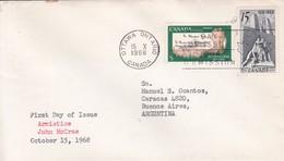 AMIRSTICE JOHN MCCRAE. FDC CANADA OTTAWA CIRCA 1968. - BLEUP - First Day Covers