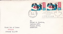 CURLING. FDC CANADA OTTAWA CIRCA 1969. CIRCULEE BUENOS AIRES. - BLEUP - First Day Covers