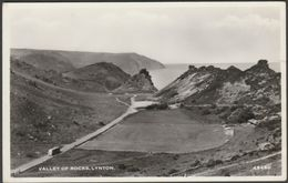 Valley Of Rocks, Lynton, Devon, C.1950 - Harvey Barton RP Postcard - Lynmouth & Lynton