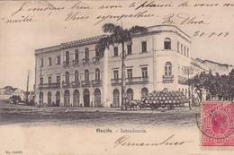 BRESIL. RECIFE. CPA RARETE. INTENDENCIA. ANNEE 1904. ATTELAGE TRANSPORT DE FUTS - Recife