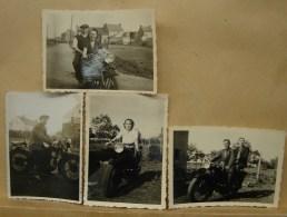 Photo. 24.  Quatre Anciennes Minis Photos De Vieilles Motos - Foto