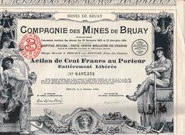 1939 - BRUAY-en-ARTOIS (62) - COMPAGNIE DES MINES De BRUAY - ACTION DE CENT FRANCS Au Porteur - Actions & Titres