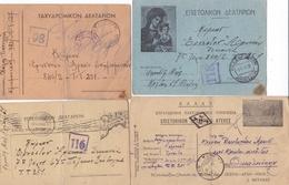 8 Entiers Postaux Militaires, Correspondance D'un Soldat Pendant La Guerre D'Albanie - 2. Weltkrieg