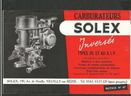 SOLEX Notice N° 47 - Vieux Papiers
