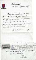 """29 Mai 1935 - VOYAGE INAUGURAL S/S """"NORMANDIE"""" LE HAVRE à NEW-YORK - Lettre à L'entête Et Enveloppe Recto-verso - Documents Historiques"""