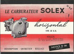 SOLEX Notice N° 56 - Vieux Papiers