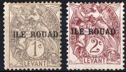 ILE ROUAD, MANDATO FRANCESE, FRENCH MANDATE, 1916, TIPO BLANC, FRANCOBOLLI NUOVI (MLH*) Scott 4,5 - Rouad (1915-1921)