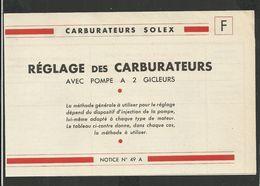 SOLEX Notice N° 49A - Vieux Papiers