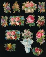 18 X CHROMO  VOIR 2 SCANS - Flowers
