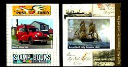 GREAT BRITAIN - 2013  ROYAL MAIL TRANSPORT  S/A  SET  EX BOOKLET  MINT NH - 1952-.... (Elisabetta II)