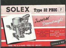SOLEX Notice N° 62C - Vieux Papiers