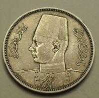 1939 - Egypte - Egypt - 1358 - 5 PIASTRES, Argent, Silver - KM 366 - Egypte