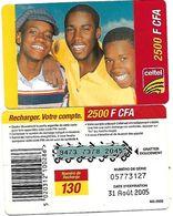 @+ Niger - Prépayée Celtel - 2500 FCFA - 3 Hommes - Aout 2005 - Code NG 2500 - Niger