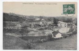 LOZANNE EN 1911 - VUE PANORAMIQUE - L' AZERGUE ET LE PONT - CPA VOYAGEE - Francia