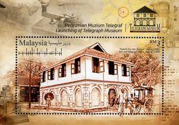 Malaysia - 2018 - Telegraph Museum In Taiping - Mint Souvenir Sheet - Malaysia (1964-...)