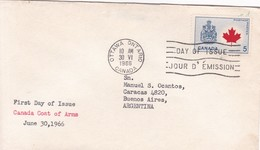 CANADA COAT OF ARMS. FDC CANADA OTTAWA CIRCA 1966. - BLEUP - First Day Covers