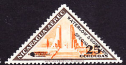 Nicaragua (1947) Sulphurous Lake Of Nejapa.  Overprinted SPECIMEN And Printed In Different Color Than Issued Stamp. Scot - Nicaragua