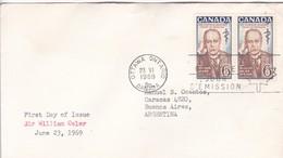 SIR WILLIAM OSLER. FDC CANADA OTTAWA CIRCA 1969. - BLEUP - First Day Covers