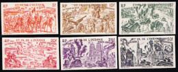 French Polynesia (1946) Chad To Rhine. Set Of 6 Imperforates.  Scott Nos C11-16, Yvert Nos PA20-25. - Autres