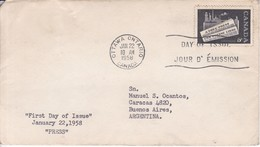 PRESS. FDC CANADA OTTAWA CIRCA 1958 - BLEUP - 1952-1960