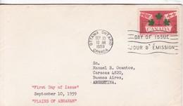 PLAINS OF ABRAHAM. FDC CANADA OTTAWA CIRCA 1959 - BLEUP - First Day Covers