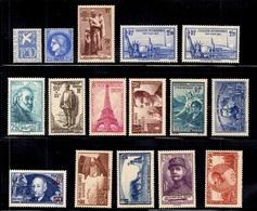France Belle Petite Collection D'anciens Neufs ** MNH 1934/1940. Bonnes Valeurs. B/TB. A Saisir! - France