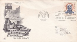 CANADIAN POSTAGE STAMPS. FDC CANADA OTTAWA CIRCA 1960 - BLEUP - 1952-1960