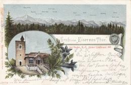 Litho Gruss Vom EISERNEN THOR Bei BADEN (NÖ) - Hoher Landkogel, Gel.1902, Gute Erhaltung - Baden Bei Wien