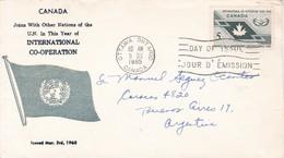 CANADA INTERNATIONAL CO OPERATION. FDC CANADA OTTAWA CIRCA 1965 - BLEUP - First Day Covers