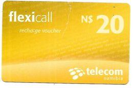 @+ Namibie - Prépayée Flexicall - 20 N$ - 120195 En Bas à Gauche Au Verso. Mauvais Etat (lire Description) - Namibie