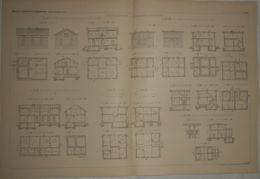 Plan D'une Colonie Ouvrière De Leinhausen Près De Hanovre En Allemagne. 1887. - Public Works