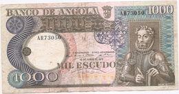 BANCO DE ANGOLA -MIL ESCUDOS 1973 - Angola