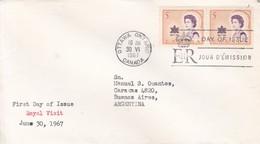 ROYAL VISIT. FDC CANADA OTTAWA CIRCA 1967 - BLEUP - First Day Covers