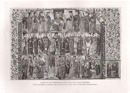 GRAVURE - 1877 - Gravure Sur Bois - Par HUYOT - L'Arbre De Jessé, Généalogie De N.S. Jésus-Christ, Depuis Abraham. - Santini