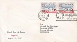 EXPO 67. FDC CANADA OTTAWA CIRCA 1967 - BLEUP - First Day Covers