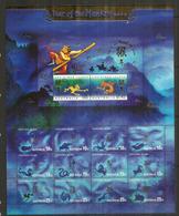 ILE CHRISTMAS (Océan Indien) Animaux Du Zodiaque Chinois, Feuillet Neuf ** Côte 15 €, Année 2004 - Nouvel An Chinois