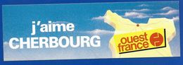 A.C. J'AIME CHERBOURG  OUEST FRANCE - Stickers