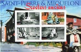 Saint-Pierre-et-Miquelon 2018 BF Les Scooters Anciens - The Old Scooters - Lambretta Cezeta - 4v MNH/Neuf - Blocs-feuillets