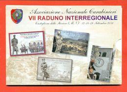 CASTIGLIONE DELLE STIVIERE-CARABINIERI - RADUNO INTERREGIONALE - FOLDER CON 4 CARTOLINE TIMBRATE - MARCOFILIA - Mantova