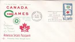 CANADA GAMES AMATEUR SPORT PRGRAM. FDC CANADA OTTAWA CIRCA 1969 - BLEUP - First Day Covers