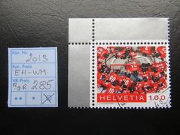 """2013  """" Eishocky-WM """" Aus Bogenecke, Gut Gestempelt,  LOT 285 - Gebraucht"""
