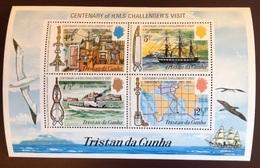 Tristan Da Cunha 1973 HMS Challenger Birds Ships Minisheet MNH - Tristan Da Cunha