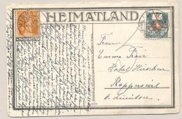 Schweiz - 1924 - 5c Portomarke On Postcard From Minusio To Rapperswil - Strafportzegels