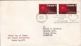 SIR ERNEST RUTHERFORD. FDC CANADA OTTAWA CIRCA 1971 - BLEUP - 1971-1980