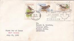 BIRD SERIES. FDC CANADA OTTAWA CIRCA 1969 - BLEUP - First Day Covers