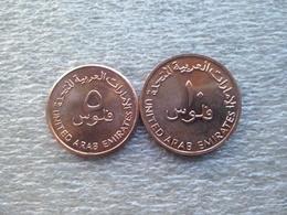 United Arab Emirates   5 And 10 Fils , 1992 ,    UNC - Emirats Arabes Unis